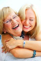 A mother and daughter smile | Medina OH dental implants